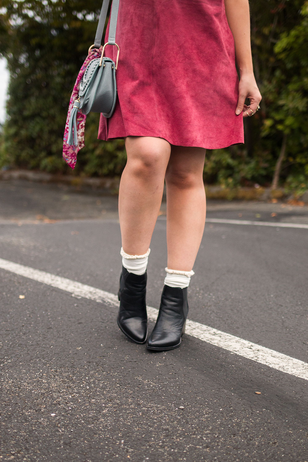 Steve Madden Pistol Booties with Socks // Hello Rigby Seattle Fashion Blog