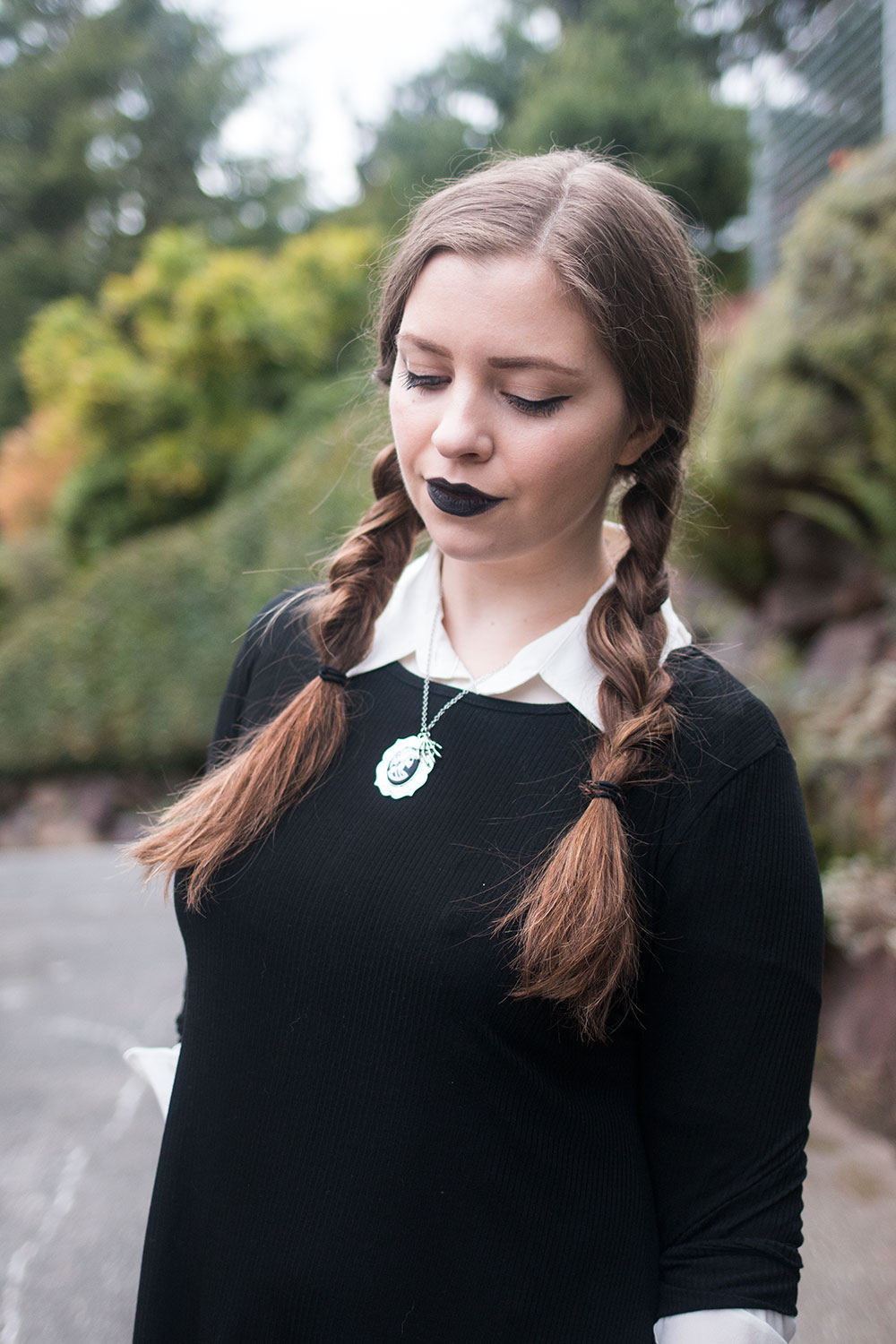 Wednesday Addams Halloween // Halloween Costumes for Work // Hello Rigby Seattle Fashion Blog