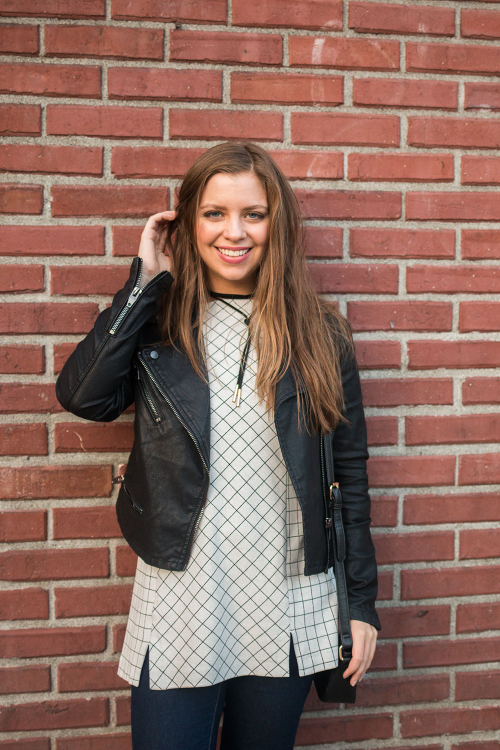 J. Jill Tunic Outfit with Moto Jacket // Hello Rigby Seattle Fashion Blog