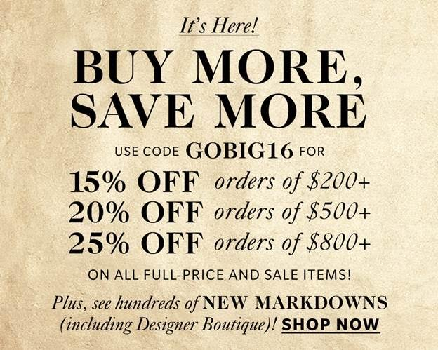 Shopbop Buy More Save More Sale Banner // Hello Rigby Fashion Blog