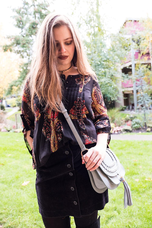 Stitch Fix November 2016 // Daniel Rainn Bilson Pleat Detail Blouse // Hello Rigby Seattle Fashion Blog