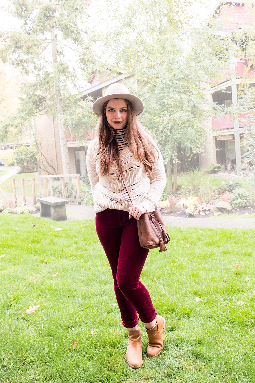 Stitch Fix November 2016 // Edyson Hampton Corduroy Skinny Jeans Outfit // Hello Rigby Seattle Fashion Blog
