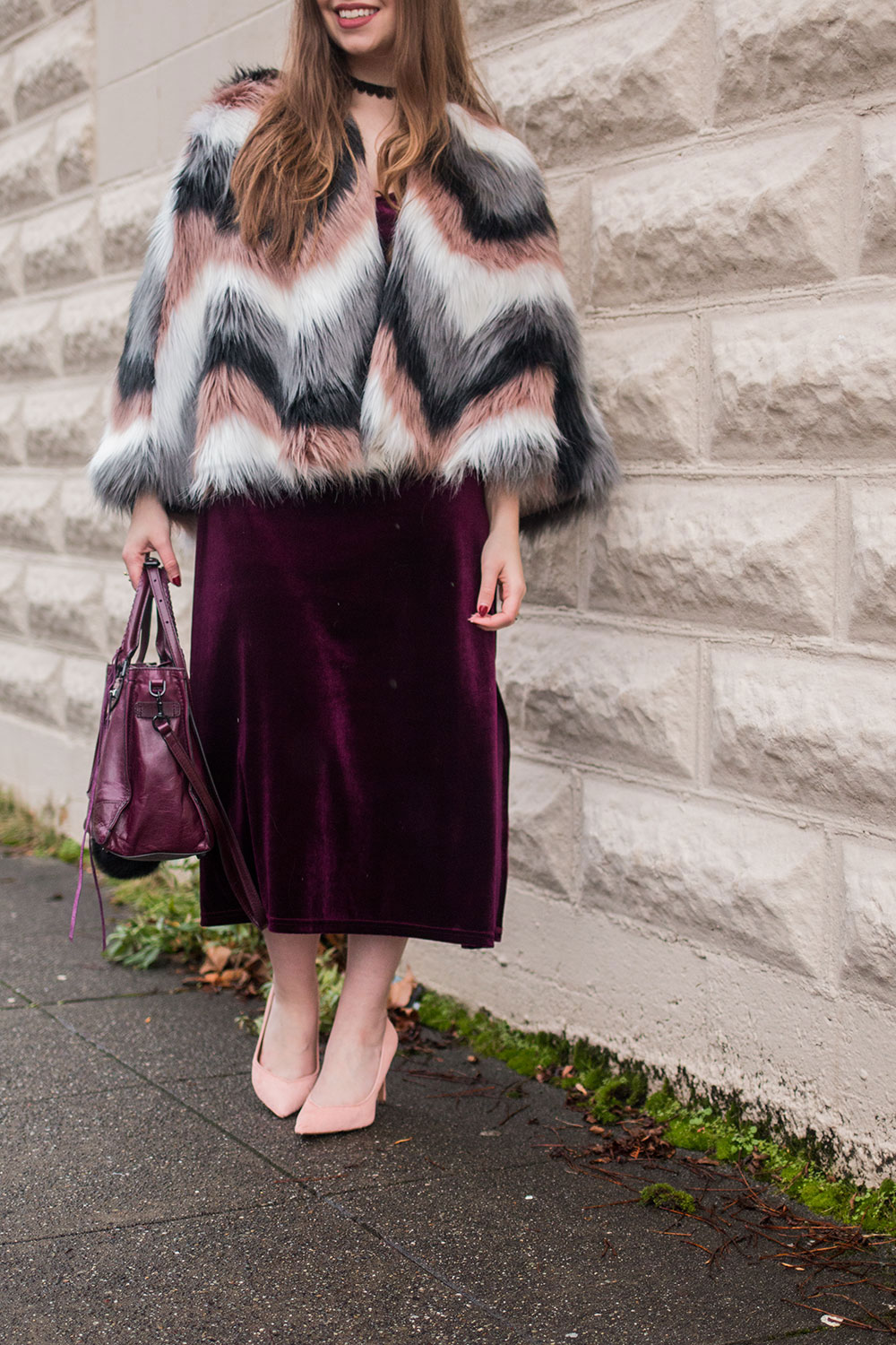 How to Wear the Velvet Trend: Velvet Dress Holiday Party Outfit // Hello Rigby Seattle Fashion Blog