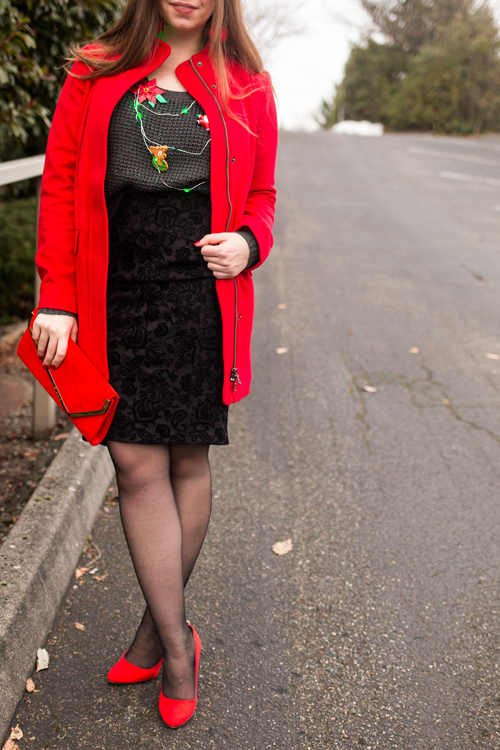 Ugly Holiday Sweater Outfit // Hello Rigby Seattle Fashion Blog