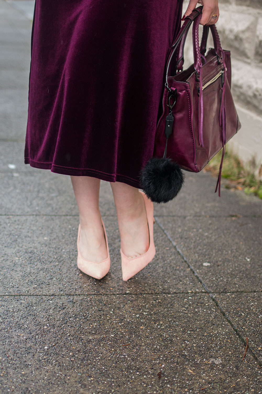 Velvet Dress + Rebecca Minkoff Regan Satchel // Hello Rigby Seattle Fashion Blog