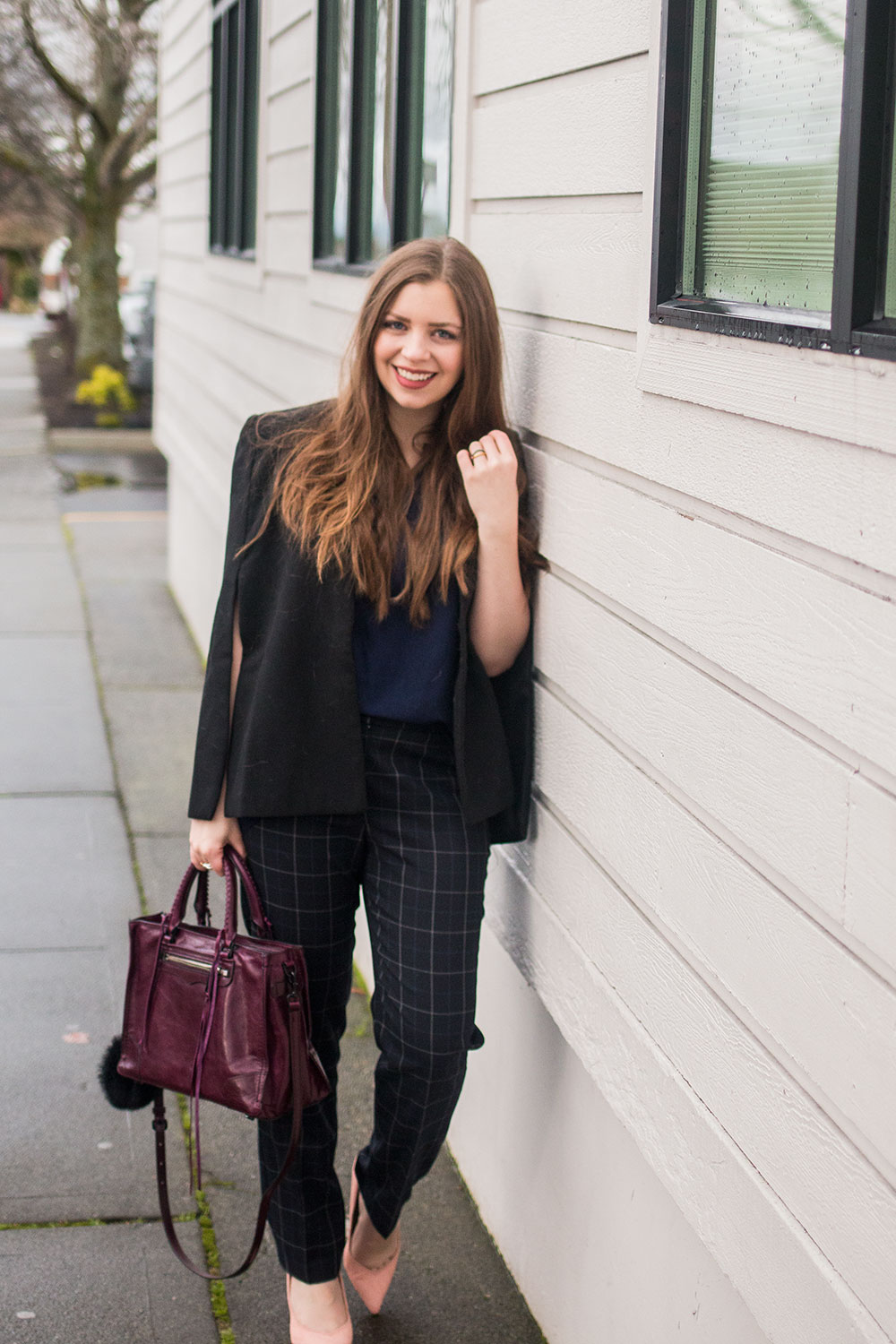 Navy & Black Winter Work Outfit // Hello Rigby Seattle Fashion Blog