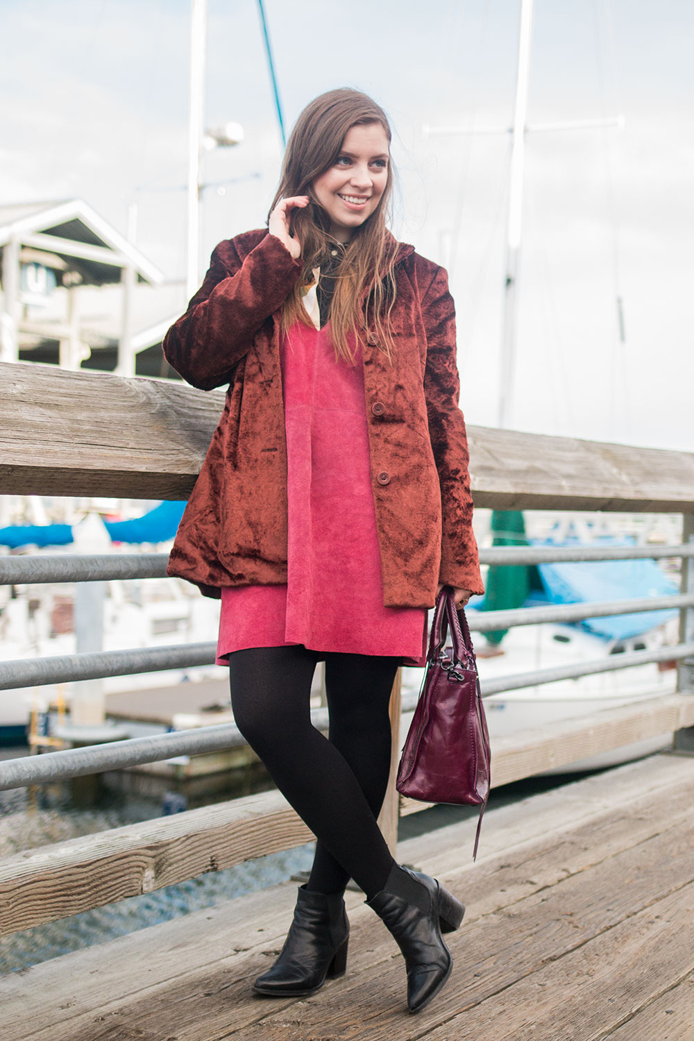 Suede + Velvet Winter Outfit // Hello Rigby Seattle Fashion Blog