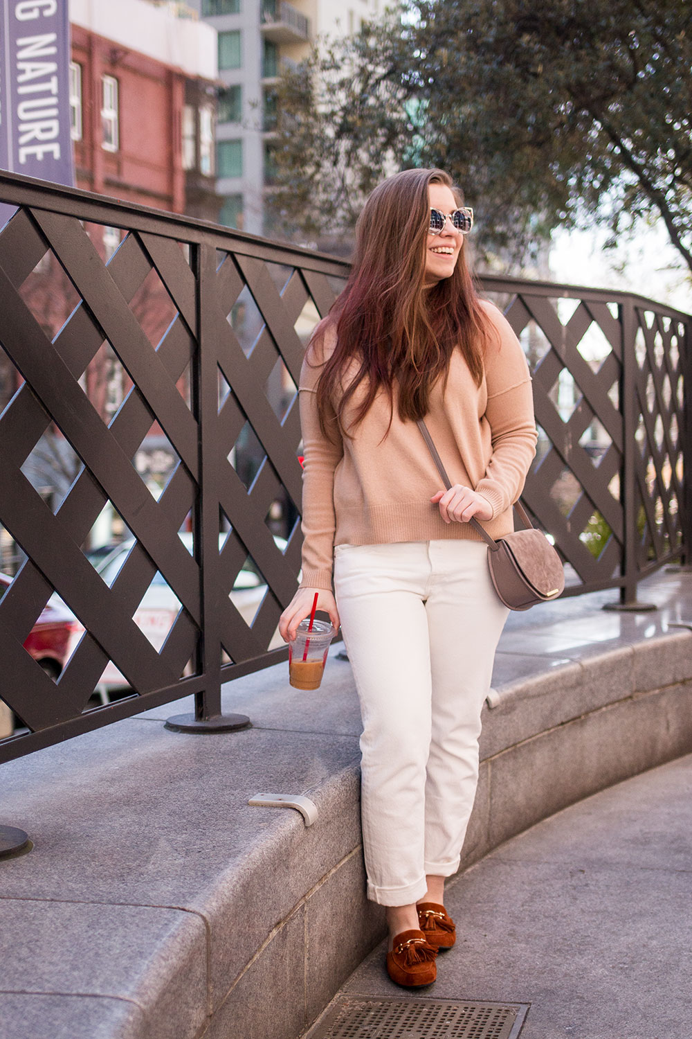Cuyana Wool Turtleneck Sweater in Camel // Hello Rigby Seattle Fashion Blog