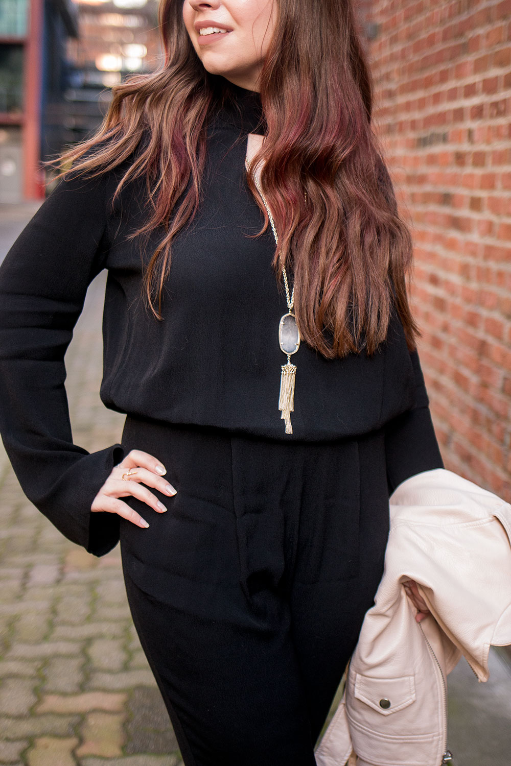 Divalani Boutique: SEN Jumpsuit + Kendra Scott Rayne Necklace // Hello Rigby Seattle Fashion Blog