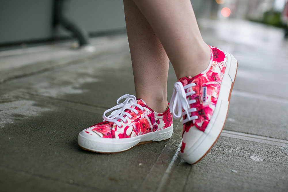 Spring Style: Superga Floral Sneakers // Hello Rigby Seattle Fashion Blog