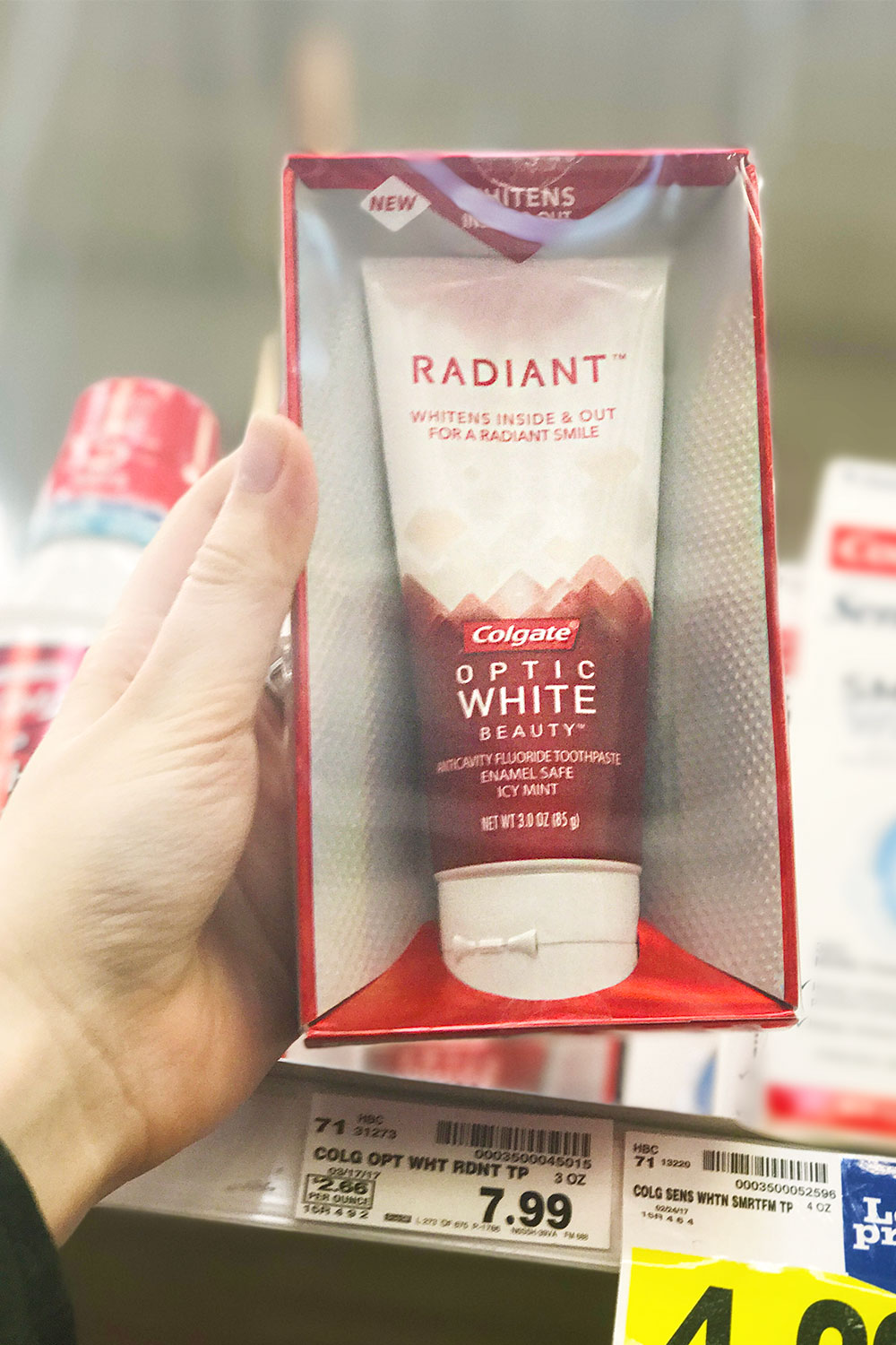 Colgate Optic White Radiant Toothpaste at Kroger // Hello Rigby Seattle Beauty Blog