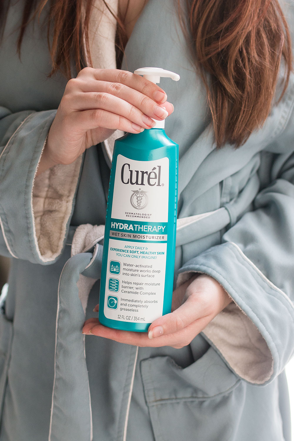Curel Hydra Therapy Wet Skin Moisturizer Review for Dry Itchy Skin // Hello Rigby Seattle Beauty Blog