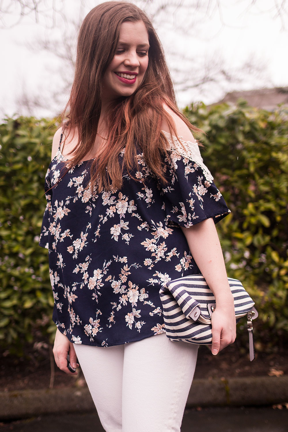 Stitch Fix April 2017 Review: Kaileigh Ludo Cold Shoulder Top // Hello Rigby Seattle Fashion Blog