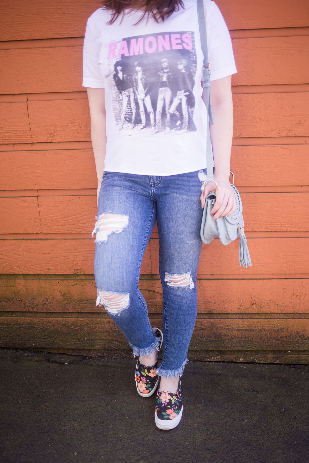 Stitch Fix May 2017: Studio Blue Leticia Distressed Uneven Hem Skinny Jean Crop // Hello Rigby Seattle Fashion Blog