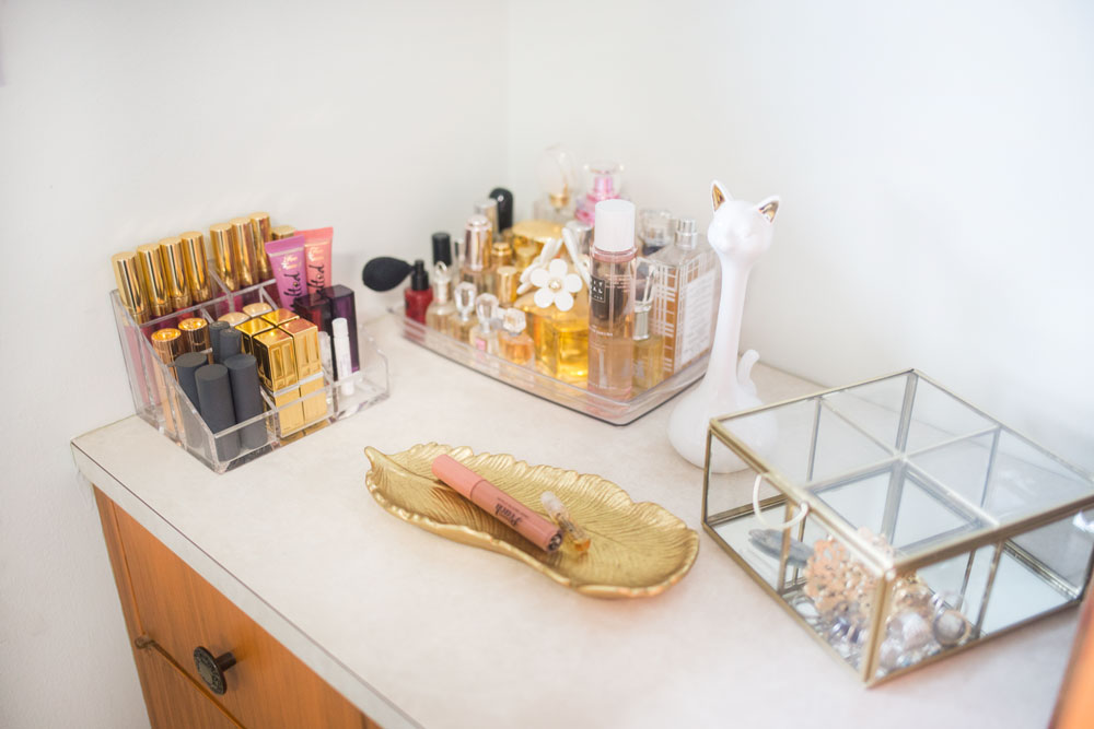 Beauty Corner in Midcentury Office // Hello Rigby Seattle Midcentury Home Blog