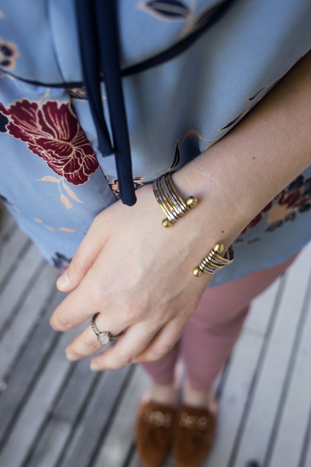 Stitch Fix July 2017: Zad Martin Mini Layered Cuff Bracelet // Hello Rigby Seattle Fashion Blog