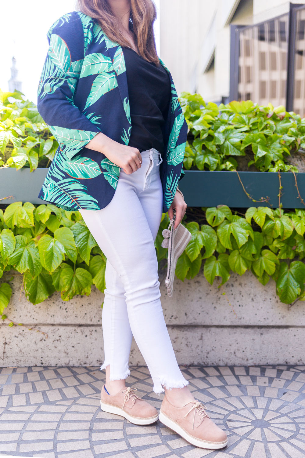 Stitch Fix Reviews // Lila Ryan Adelita Angled Fray Hem Skinny Jean Outfit