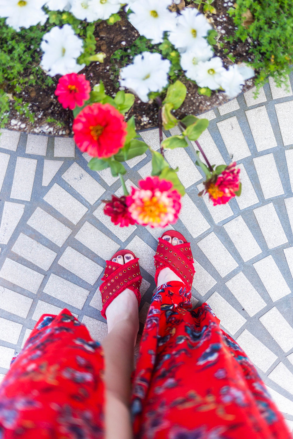 Stitch Fix Reviews // Schutz Walquiria Studded Slide Sandal in Red